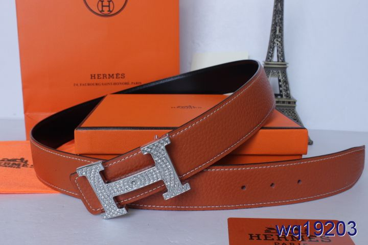 Latest Hermes Mens Belt Orange with Silver H Buckle Cheap Sale